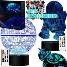 2 Basen Star Wars Geschenke 3D Lampe Männer Star Wars Nachtlich unvollständig