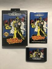 New listing Dick Tracy (Sega Genesis, 1990) Complete Cib Tested Authentic