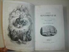 Raro Libro antico 1841 Stern Voyage sentimental Illustrato Prima Edizione