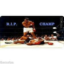 MUHAMMAD ALI RIP REST IN PEACE METAL LICENSE PLATE MADE IN USA