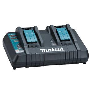 Makita Doppel-Schnellladegerät DC18RD 14,4 - 18 V Akkus laden schnell Melodie