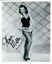 Ann Miller (Vintage) signed photo COA