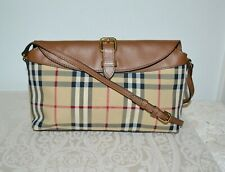 New $895 BURBERRY Small Leah Shoulder Bag/Clutch Horseferry check
