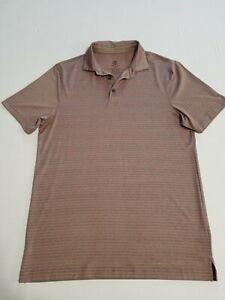 Champion C9 Polo Shirt Men Size M Gray-Orange Striped Pre-Owned P126