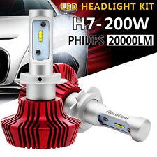 2X H7 Philips LED Headlight Bulbs Kit Low Beam 200W 20000LM 6500K Ballast Bright