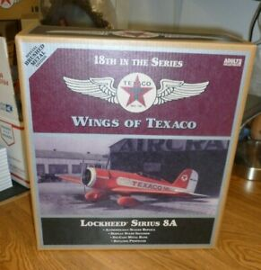 SPECIAL BRUSHED METAL Wings of Texaco LOCKHEED SIRIUS 8A Diecast Airplane