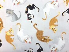 Robert Kaufman Whiskers and Tails 100% Cotton fabric by the half metre