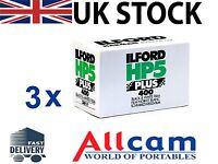 3 Pack: Ilford HP5 Plus 400 35mm 36 Exposure Black & White Negative Film *New