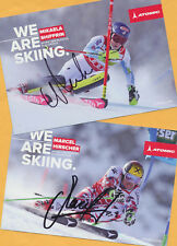 Mikaela shiffrin-marcel hirscher - 2 top ak imágenes (2) - Print copies + 2 ak