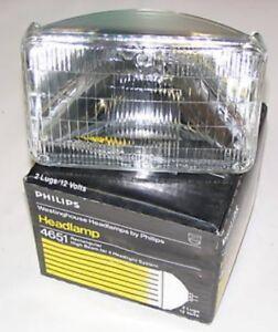 Philips 4651 Rectangular Quad Hi Beam Sealed Beam NEW