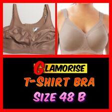 GLAMORISE Soft Shoulders T-Shirt Bra (#2514-KQ 1080) TAUPE Size 48 B NWOT