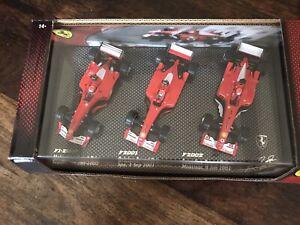 Boxset Michael Schumacher F1-2000 F2001 F2002 Champion Hotwheels 1/43 F1
