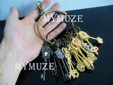 25Pcs Fairy Tail Lucy Heart Key Chain with Keyring Celestial Spirit Gate Keys