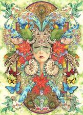 """Impresionante Linda Ravenscroft Original """"Rio"""" Fantasía Hadas Tropical Pintura"""
