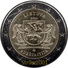 2 EURO COMMEMORATIVO LITUANIA 2020 Regioni Lituania Aukstaitija