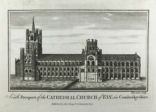 View of Cathedral Church of Ely Cambridge c1795 Original antique engraved print