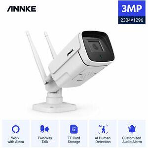 ANNKE 1XWireless CCTV IP Cameras 2K/3MP Two Way Audio AI Huma Home Security Kit