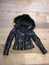 Flo Clo Black Fur Hooded Hoodie Jacket Paris