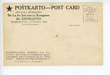 6th Esperanto Congress—Rare Antique Linguistics—Washington DC ca. 1910