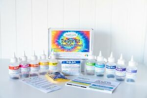 10 Spectrum Tie Dye Kit rainbow colours real fabric dyes for bright colours