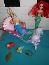 17.1.8.2 Char Carrosse du Roi Triton Ariel La petite sirène Simba Toys poupée