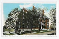 Sabbathday Lake ME Central Brick Building Maine Vintage Postcard