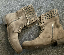 Allsaints Suede Studded Military Boots Size 6