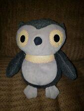 "Kohls Cares Aesop's Fables Owl Plush Stuffed Animal Toy Grey Hootie 10"""