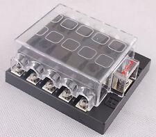 DC32V 10 Way Terminals Circuit Car Auto Blade Fuse Box Block Holder ATC ATO 10KW