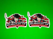 BULLETPRUF HARD PARTS METRIC BIKE SCOOTER STREET BIKE MOTORCYCLE DECALS STICKERS