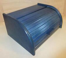 madera Panera Caja con Rollo Tope, madera de haya 40 x 29cm NUEVO Azul