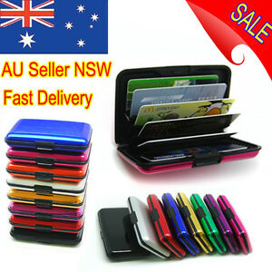 NEW Deluxe Aluma Wallet Credit Card Holder Anti RFID Scanning Aluminum Case