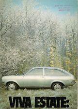 Vauxhall Viva HC Estate 1971-72 UK Market Sales Brochure SL De Luxe 1256 1600