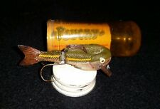 Vintage Plucky The swimming Lure 1/3 oz fishing lure/ france/original container