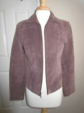 SUEDE COAT - Yvonne & Marie - Brown - Leather - Sz 4