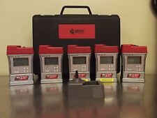 Lot of 5 Quest Technologies SafeLog 100 Personal Gas Monitor With Case-m785x
