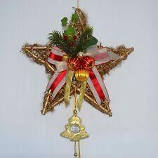 Weihnachtskranz/Stern Gold/Rot