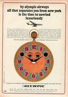 1967 Original Advertising' Vintage Olympic Airways Airlines Luxuriously