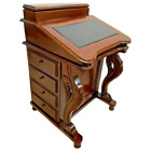 Vintage Davenport Captain's Desk sixteen pullout drawers Leather Top handcrafted
