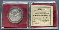 1991 Lynden Washington $1 Trade Dollar - 0.999 Silver Plated Coin