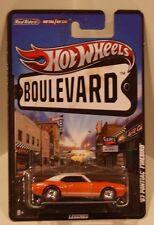 Hot Wheels 2012 Boulevard '67 Pontiac Firebird 400 R/L Real Riders/Metal ORANGE