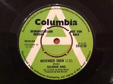 "Solomon King November Snow EX DEMO 7"" Single Record DB 8739"