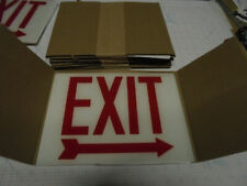 6 Lot Cooper Lighting Exit Sign Replacement Glass Lens Right Arrow 8 34 X 12