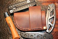 Leather Folding Knife Sheath - Horizontal Sideways Carry - scout ranger hip side