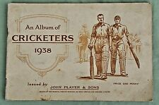Vintage An Album of CRICKETERS 1938 Picture Cards John Player & Sons Cigarette
