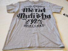 Metal Mulisha mens M med Ninty Nine-SMU heather grey t shirt Moto MM TEE NWT*^