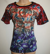 "New Gringo Fair Trade T-Shirt Top SM Hippy Ethnic Boho Nepal Hindu chest to 32"""