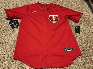 Nike Eddie Rosario Minnesota Twins Red Jersey Men's Size: Medium NWT