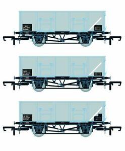 Accurascale ACC1084-MDOE BR 21T COAL21/MDO Mineral Wagon Triple Pack Grey TOPS E