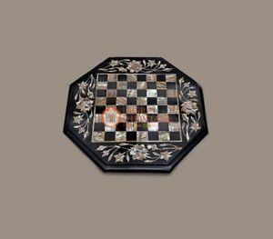 Handmade Marble Chess Set Indoor Adult Chess Game Board Handcrafts